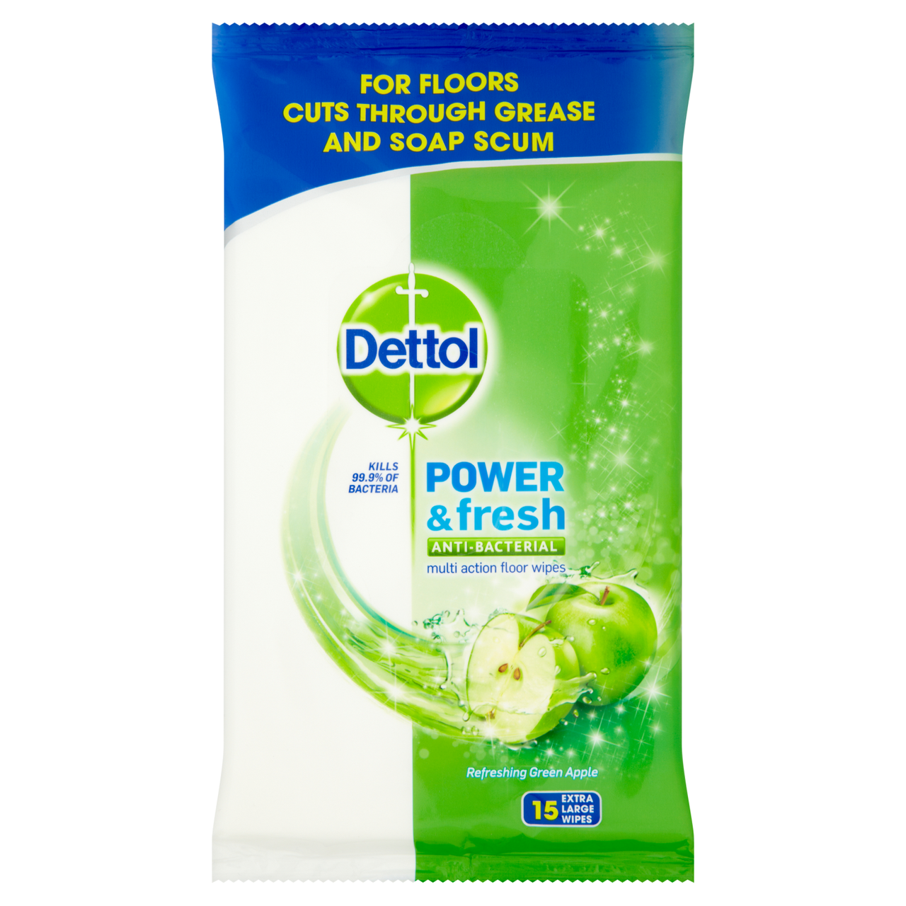 Dettol Power & Fresh Anti Bacterial Multi Action Floor Wipes
