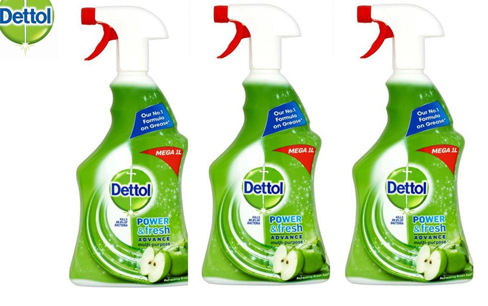 Dettol Power & Fresh Multi-Purpose Cleaner Spray Green Apple